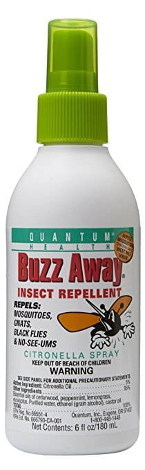 Quantum Buzz Away bug spray for babies