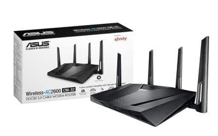 ASUS CM-32 Cable Modem AC2600 Wifi Router Certified for Spectrum
