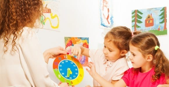 create a toy clock together