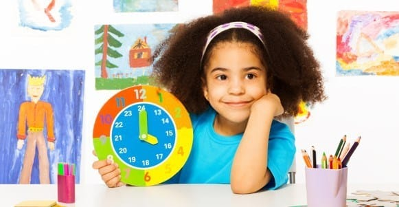 teach kids to tell time by counting to sixty